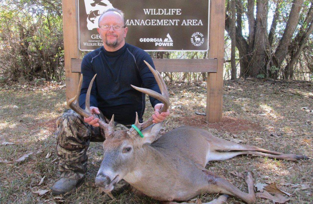 buck taken at Blanton Creek WMA quota hunt