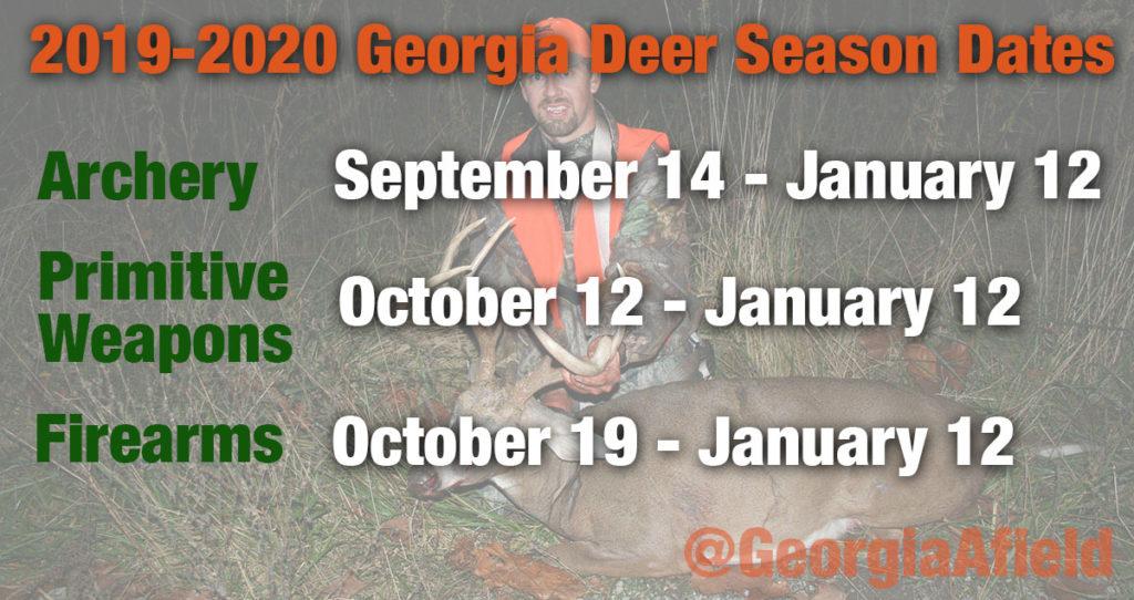 Georgia's 2019-2020 deer season dates