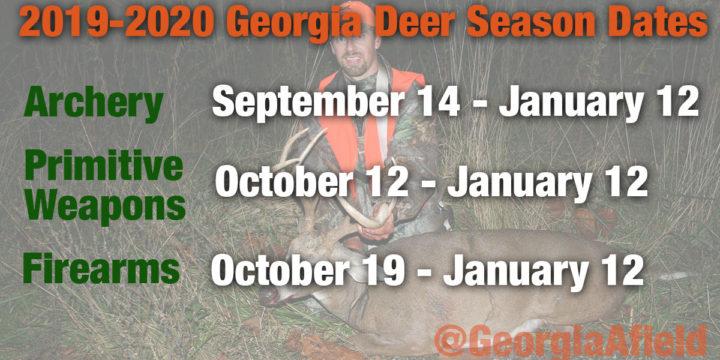 Official 2019-2020 Georgia Deer Season Dates
